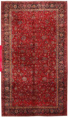 Antique Persian Rug Vintage Oriental Rug By