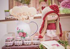 chá de bonecas: festa infantil decorada com o tema