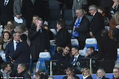 December 27 2016 - FA chairman Greg Clarke sees the funny side as Leicester City distribute Jamie Vardy masks in protest at his suspension