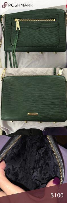Rebecca Minkoff dark green clutch Beautiful green  0fd3d906548b8