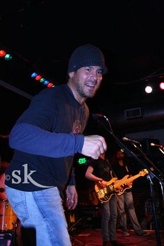 :) Christian Kane with guest Brian Nutter playing at Seattle's Tractor Tavern. 11-22-11 pic by @SK Sage K please keep her watermark/copyright on pic and do not remove when repinning thank you!