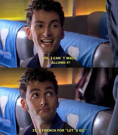 His facial expressions are so cute in this one! Let's go! Doctor Who. David Tennant.