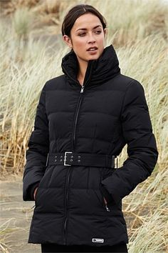 Isobar Longline Quilted Down Jacket: 14WD 108709