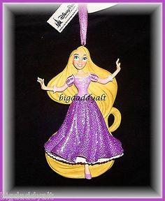 Details about Disney Parks Princess Rapunzel Glitter Figure Ornament  Christmas Tangled NEW