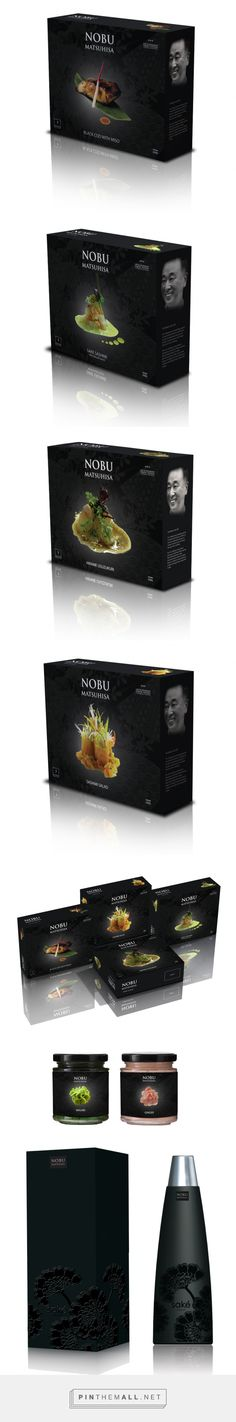 Nobu Matsuhisa on Packaging Design Served curated by Packaging Diva PD. Nobu Sake has always been a very popular pin but what about the rest of this gorgeous packaging created via http://www.packagingserved.com/gallery/Nobu-Matsuhisa/708167