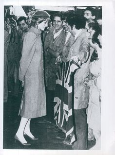February 15, 1984: Princess Diana visits the Jaguar Cars factory in Allesley, Coventry.