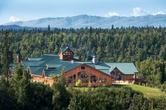 Mt McKinley Princess Wilderness Lodge with great view of Mt McKinley, Alaska