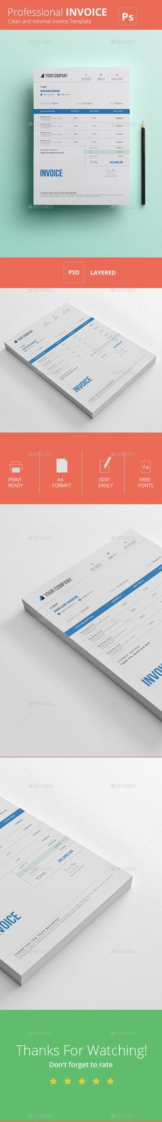 Proposal Template Suisse Design with Invoice on Behance identity - invoice designs
