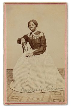 Photograph, c.1860s of Harriet Tubman, (1822 - 1913). An American abolitionist, and later, an active participant in the women's suffrage movement. ~ {cwl} ~ (Image: Swann Auction Galleries)