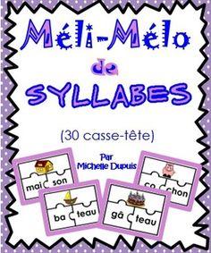 Méli-Mélo de syllabes (30 casse-tête)