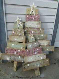 Christmas trees from palettes