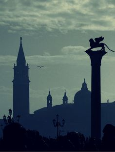 "laserenissima7: "" A flying lion ~ San Marco Venice by Sigurd66 """