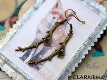Ohrringe Bronze Blüten von CLARKIkind