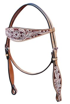 Floral Rubbed Widebrow Headstall - Frontier Western Shop Ltd.