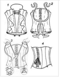 como ponerse un corset