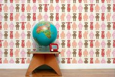 Have a heart and give a robot a good home! This kids robot wallpaper from  Little Fashion Gallery has a jumble of animated  junior robots from the slightly scary  to  the pink and girly. It's a great example of how robot wallpaper doesn't just have to appeal to the  boys – this would look great in any child's room!