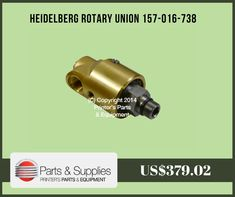 Printers Parts & Equipment Parts and Supplies store also known as Shop.PrintersParts collects wide range of Heidelberg Rotary Union 157-016-738 at our web store. You can buy Heidelberg Rotary Union 157-016-738 at an affordable price rate.
