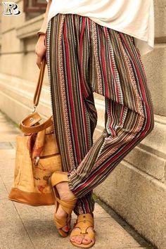 Pants bohemian hippie hippie chic hippie pants bohemian pant aztec aztec printed one piece girl women Hippie Pants, Boho Pants, Bohemian Pants Outfit, Hippie Style, Bohemian Style, Bohemian Gypsy, Sarouel Pants, Trousers, Harem Pants Fashion