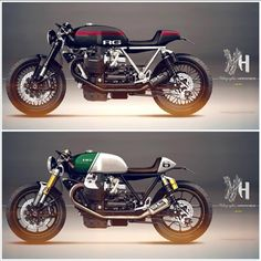 Cafè Racer Concepts - Moto Guzzi by Holographic Hammer Cafe Racer Tank, Cb 750 Cafe Racer, Norton Cafe Racer, Modern Cafe Racer, Cafe Racer Style, Cafe Racer Build, Cafe Racer Bikes, Cafe Racer Motorcycle, Motorcycle Gear