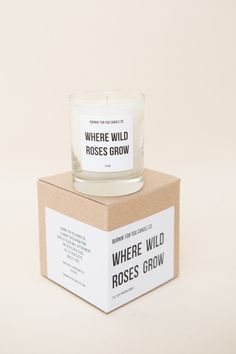 Burnin For You Candle Co. Where Wild Roses Grow Candle
