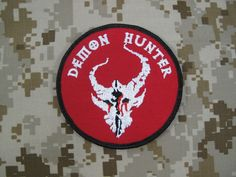 NSWDG Red Team Squad Demon Hunter Patch (Red) Devgru Navy SEALs Navy Seal Trident, Trident Tattoo, Marine Tattoo, Cool Hand Luke, Morale Boosters, Special Ops, Special Forces, Us Navy Seals, Red Team