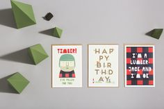 Lucky Pine Sawmill collection of greetings cards by Hole in my Pocket