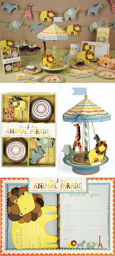 Animal Parade baby shower theme