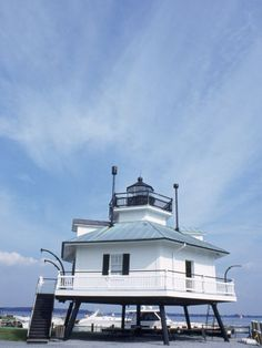 Old Famous Lighthouse, St. Michael, MD
