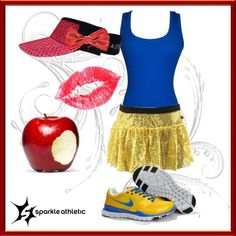 """""""Snow White Costume for running"""" by according2kelly on Polyvore"""