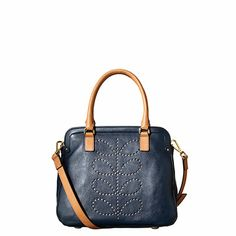 Structured Stem Leather Small Jeanie Bag