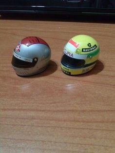 Helmet mario andretti and ayrton senna