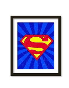 Super hero art kids wall art boys room decor  by babiesartroom, $16.00