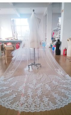 Hey, I found this really awesome Etsy listing at https://www.etsy.com/listing/227389594/cathedral-veil-luxury-wedding-veil-ivory