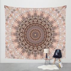 20% Off + Free Worldwide Shipping on Everything - Sale Ends Tonight at Midnight PT!  These graceful and feminine colors stand in the color meaning for female energy and compassion. At the same time it fits into a modern, romantic country house style and is therefore easy to combine. Digitaly created from my own photo. https://society6.com/product/mandala-romantic-pink_tapestry?curator=christinebssler