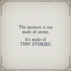 Tell your story...