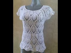 Crochet pineapple stitch blouse - Part 1 of 2 - YouTube