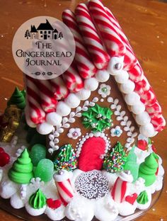 The Gingerbread Journal – Page 3 – Building a Sweet Life …. Gingerbread House Patterns, Gingerbread House Parties, Gingerbread Village, Christmas Gingerbread House, Gingerbread Cookies, Christmas Houses, Gingerbread Man, Christmas Goodies, Christmas Candy