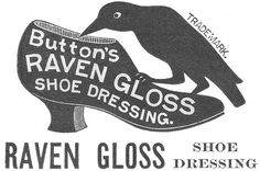 Antique Graphics - 1800's Advertisement - Raven Shoe Dressing Clip Art - Knick of Time