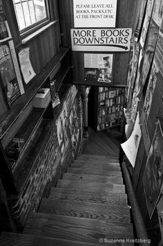 City Lights Books, San Francisco, founded in is one of America's literary landmarks (photo uncredited). Associated with the Beat poets, City Lights was the first all-paperback bookstore in the US. City Lights Bookstore, Library Bookshelves, San Francisco, Wanderlust, North Beach, Places To Go, Around The Worlds, Inspiration, Pictures