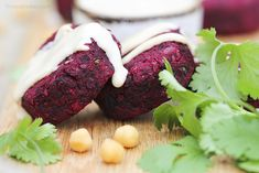 I've often though that if I owned a food van serving street food, then beetroot falafels would be top of my menu. They're traditionally deep fried (I grill or bake mine) and served in pita bread (making them an excellent grab n' go food). And here's the best part - they just happen to be