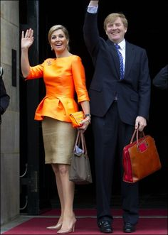 King Willem Alexander and Queen Maxima at the award ceremony for 'Appeltjes van Oranje', 16 may 2013