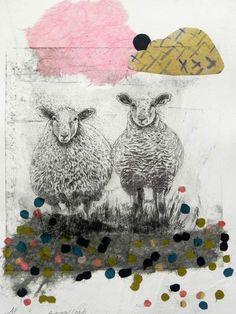 Drypoint Etching, A Level Art, Gravure, Types Of Art, Art Sketchbook, Fabric Painting, Artist Art, Printmaking, Sheep