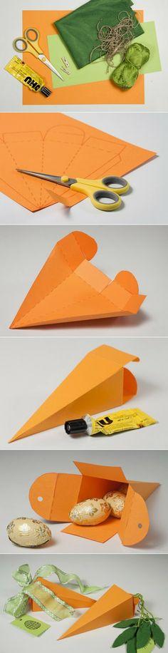 embalagem em forma de cenoura