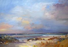 Autumn West Wittering oil on board by David Atkins Seascape Paintings, Painting Prints, Landscape Paintings, Watercolor Landscape, Abstract Landscape, Cityscape Art, Sky Art, Beach Art, Ciel