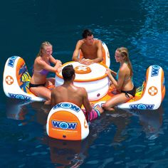 The Aquatic Bar....would be much cooler if the ice chest held more than a 12 pack....Something cool to float down the river on....Price is a little high though $279.95