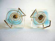 Modernist Higgins Glass Cufflinks