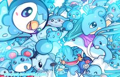Blue Party by Geegeet.deviantart.com on @DeviantArt