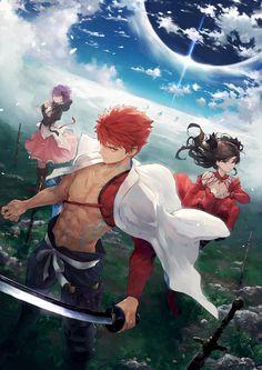 Shirou Sakura and Rin. Fate grand order