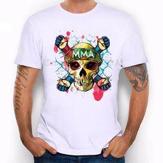 a9f99552c0 Hipster Human Skull T-Shirt For Men Boy Novelty Men s short Sleeve Funny  Cool Summer