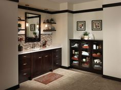 Small Bathroom With Black Bathroom Vanity Cabinet Design Ideas Bathroom Design…